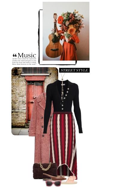 Formal office look: musician style- combinação de moda
