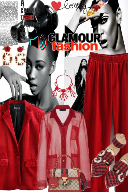 Glamour fashion in red