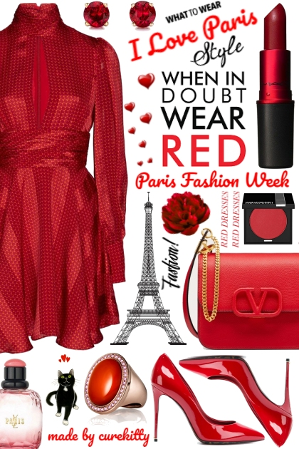 When in Doubt Wear Red Because I Love Paris!