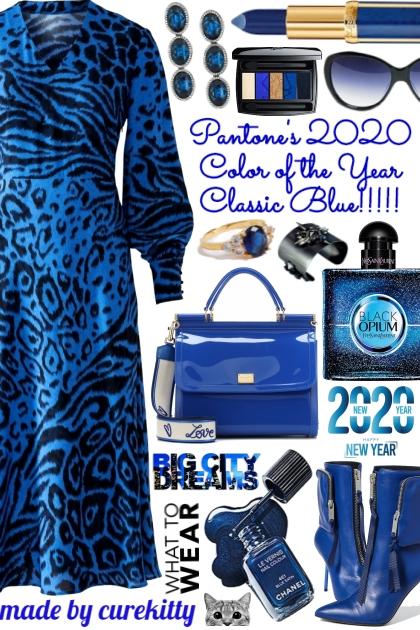 New Year Big City Big Dreams Wearing Classic Blue!