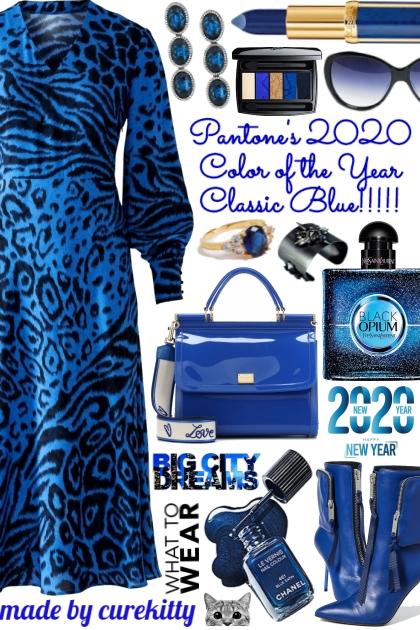 New Year Big City Big Dreams Wearing Classic Blue!