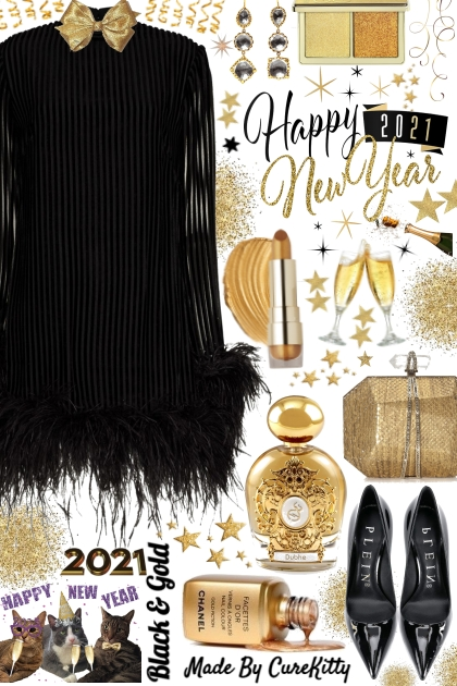 Happy New Year 2021 in Black and Gold!