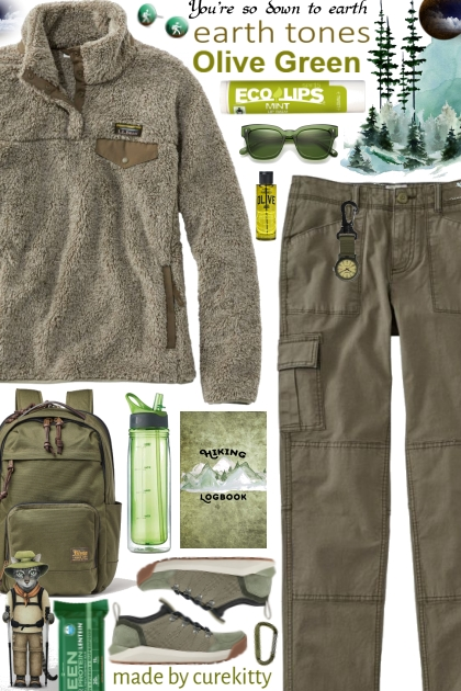 Hiking Logbook: Olive Green Earth Tones!