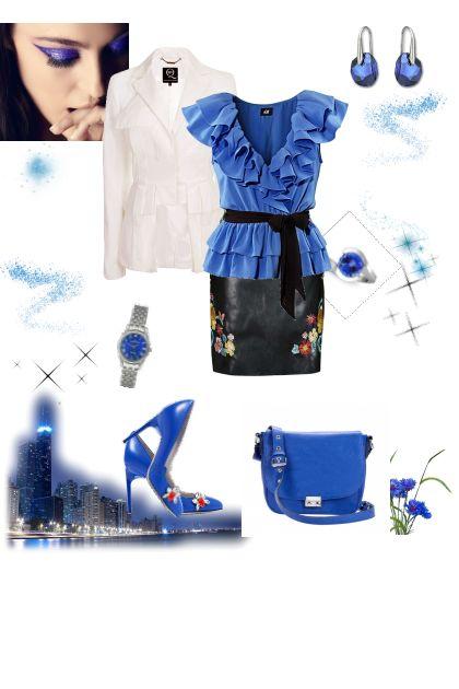 blue ruffles
