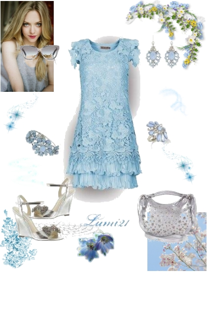 blue in  spring- Fashion set