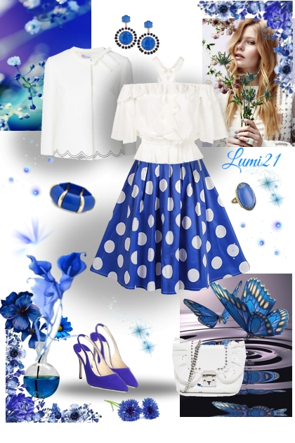 BLUE DOTS- Fashion set