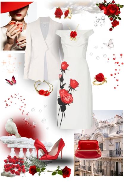 RED ROSES- Modna kombinacija