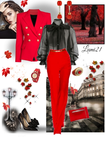 RED AUTUMN- Fashion set