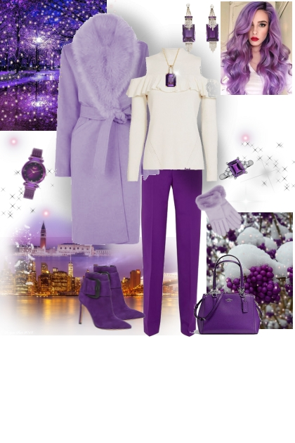 VIOLET WINTER- Fashion set