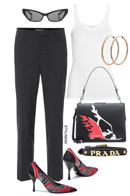 Prada hand bag- Fashion set