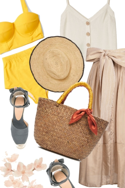 Basketbag for beach