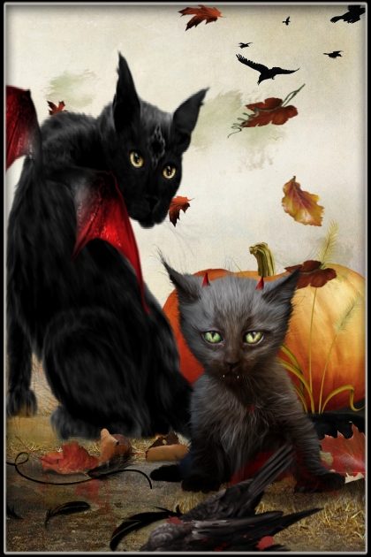 Black Cats Trick-or-Treat