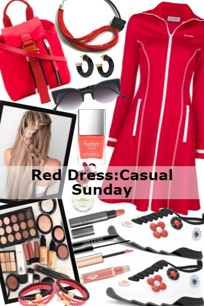 The Red Dress:Casual Sunday