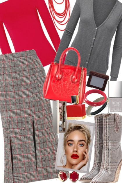 Checks:Red & Grey