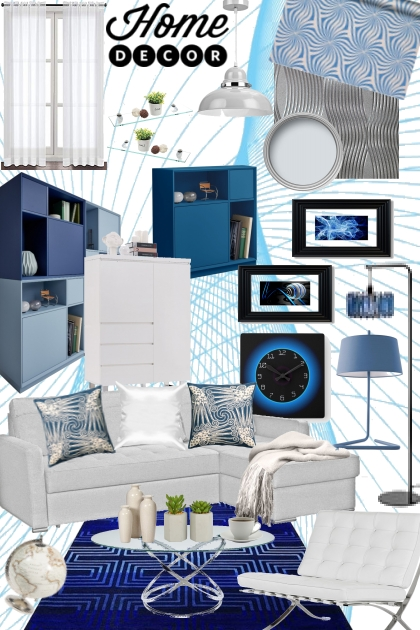 Modern Living/Blue & White