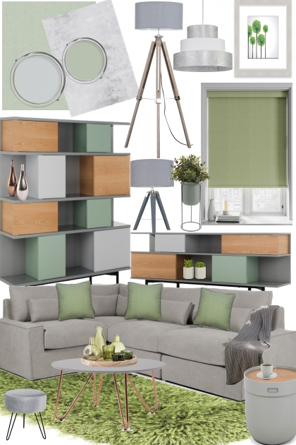 Modern Living:Sage Green & Grey