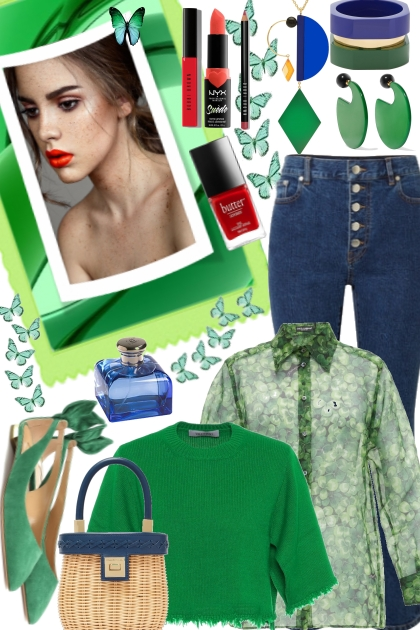 Be seen in Green- Fashion set