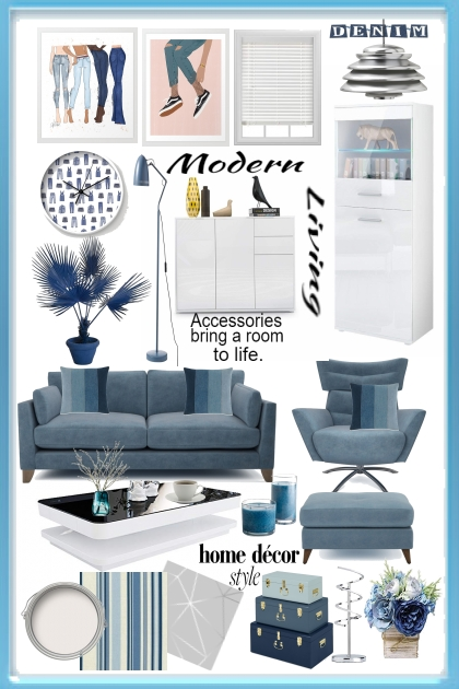 Modern Living:Denim & White