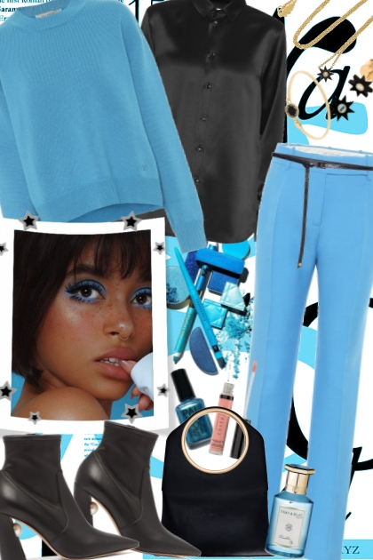 Blue & Black- Fashion set