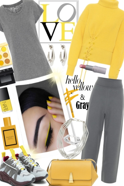 Hello Yellow & Grey