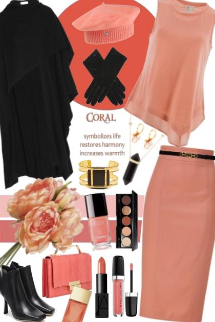 Coral & Black