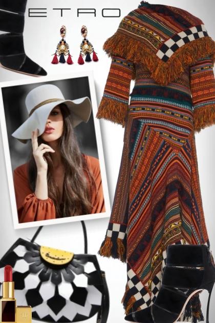 Etro shawl dress