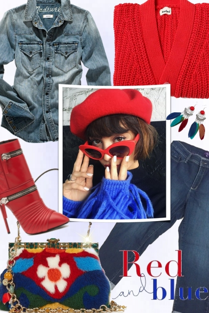Casual Autumn - Red and Blue