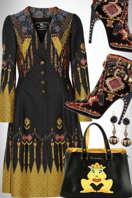 Etro Coat, Pucci boots and Braccialini bag