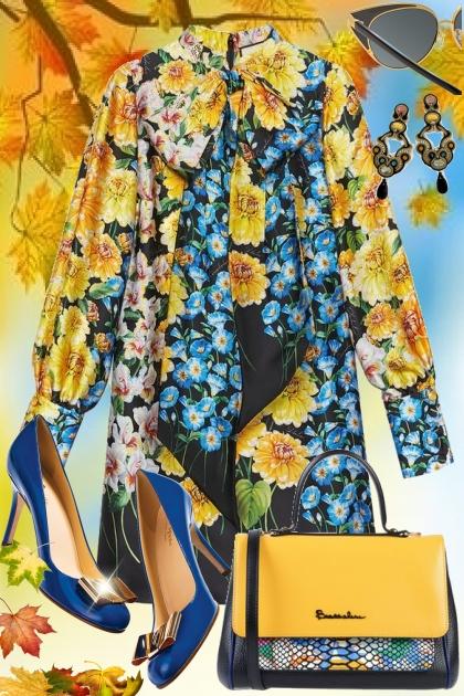 Fall Floral- combinação de moda