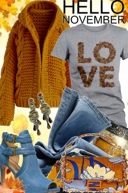 November Love- combinação de moda