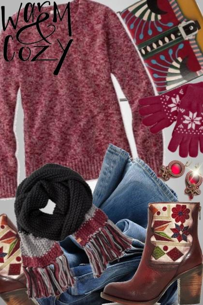 Warm & Cozy- combinação de moda