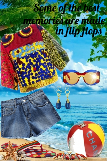 Memories are made in flip flops- Fashion set
