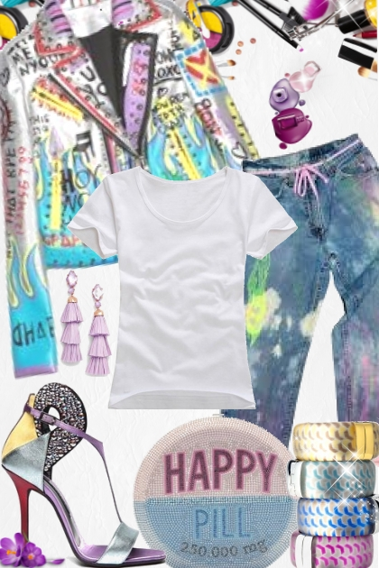 Judith Leiber Happy Pill clutch- Fashion set