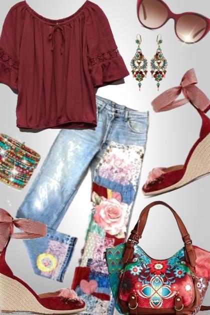 Spring Hippie Style- Modna kombinacija