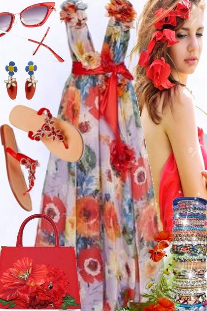 Spring Poppies- Combinaciónde moda