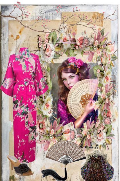 Playing Geisha Girl Dress Up- combinação de moda