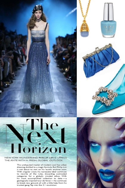Fancy shades of blue- Fashion set