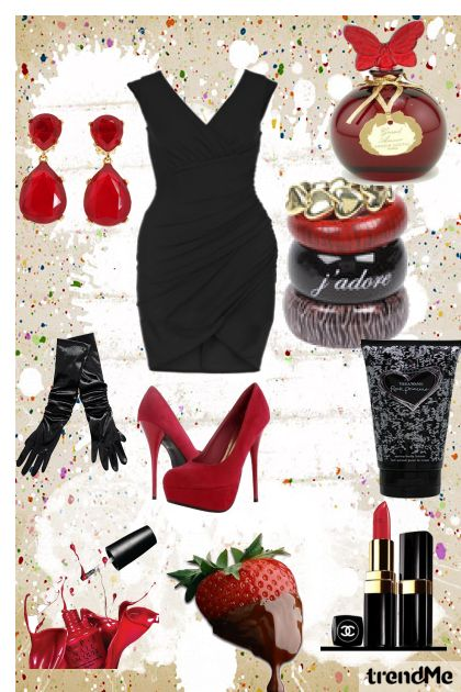 lady in red-black
