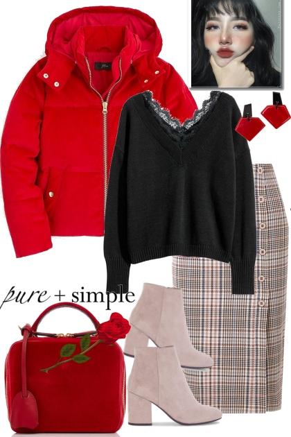 Simple red- Fashion set