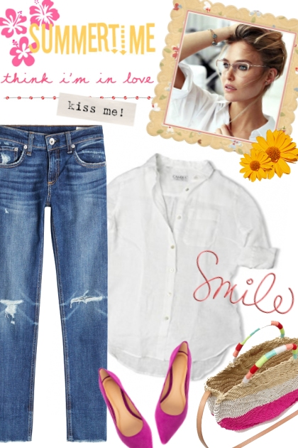 Classic: jeans and a white shirt