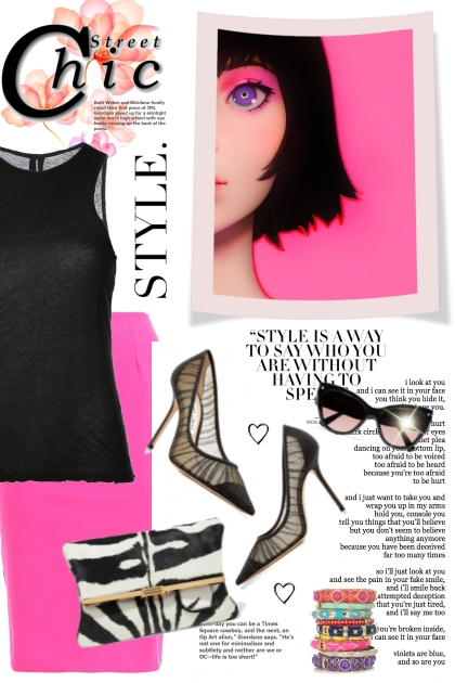 Black & Pink Style