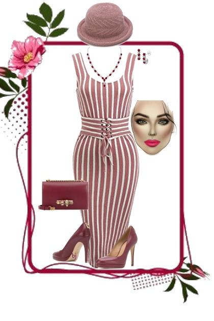 Sleeveless Striped Midi Dress