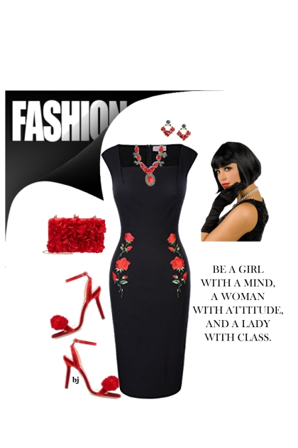 Little Black Dress.........with Roses