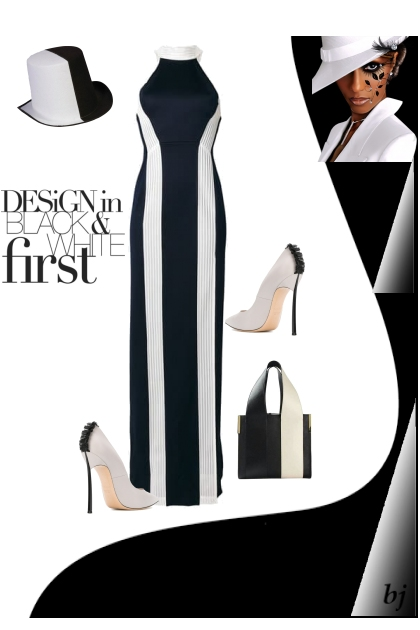 Design in Black and White- Combinaciónde moda