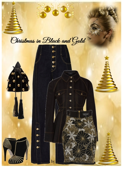 Christmas in Black and Gold