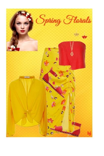 Spring Floral Skirt