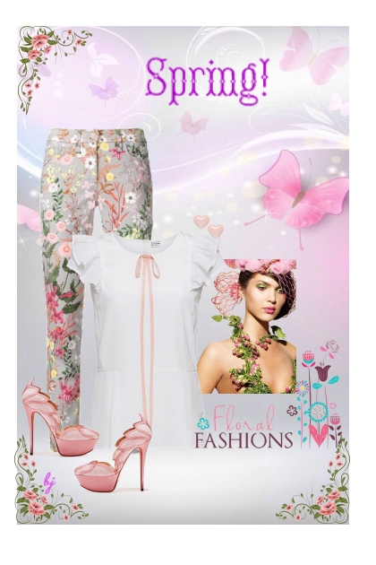 Floral Pants for Spring