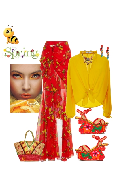 Yellow and Red for Spring