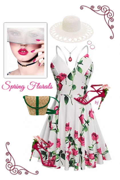 Spring Floral--Dress