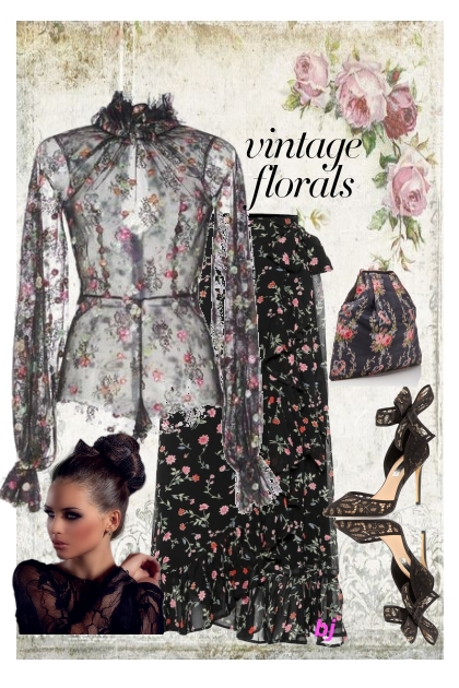 Dark Vintage Florals